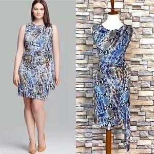 MYNT 1792 Diana Snakeskin Print Dress Plus 16W